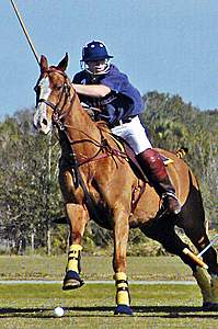 Coleman Replogle playing polo